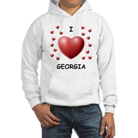 I Love Georgia - Hooded Sweatshirt