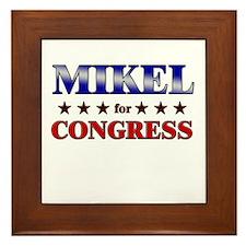 MIKEL for congress Framed Tile