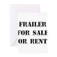 Frailer For Sale Greeting Card