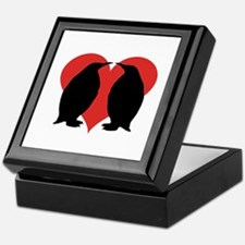 Penguin Couple Keepsake Box