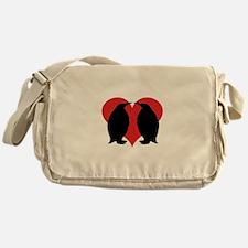 Penguin Couple Messenger Bag