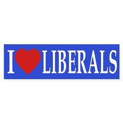 I Love Liberals (heart bumper sticker)