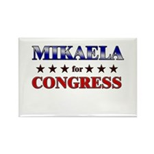 MIKAELA for congress Rectangle Magnet