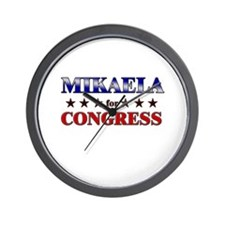 MIKAELA for congress Wall Clock