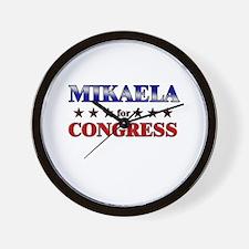 MIKAELA for congress Wall Clock