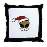 Alien Santa Throw Pillow