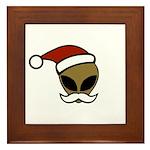 Alien Santa Framed Tile