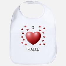 I Love Halie - Bib