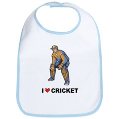I Love Cricket Bib