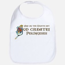 God Created Pekingeses Bib