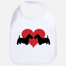 Scottish Terrier couple Bib