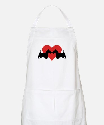 Scottish Terrier couple Apron