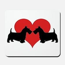 Scottish Terrier couple Mousepad