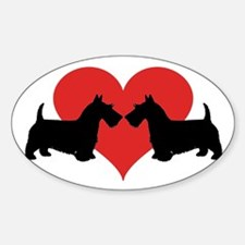 Scottish Terrier couple Decal