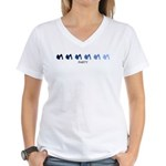 Party (blue variation) Women's V-Neck T-Shirt