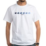 Party (blue variation) White T-Shirt