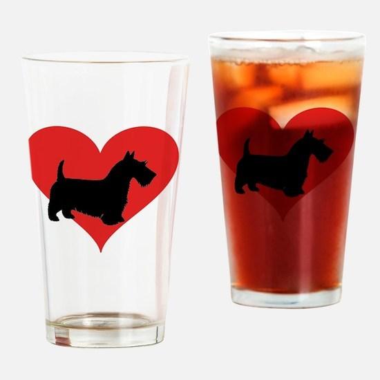 Cute Scottish terrier Drinking Glass