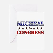 MICHEAL for congress Greeting Card