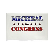 MICHEAL for congress Rectangle Magnet