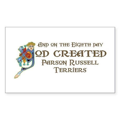 God Created Terriers Rectangle Sticker