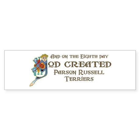 God Created Terriers Bumper Sticker