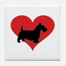 scottish terrier Tile Coaster
