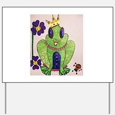 Frog Queen Yard Sign