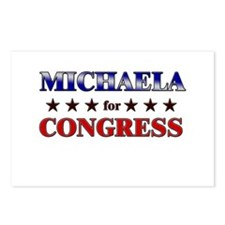 MICHAELA for congress Postcards (Package of 8)