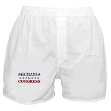MICHAELA for congress Boxer Shorts