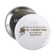 """God Created Sheepdogs 2.25"""" Button"""