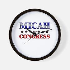 MICAH for congress Wall Clock