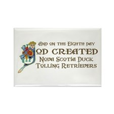 God Created Tollers Rectangle Magnet (10 pack)