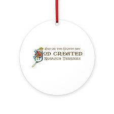God Created Norwichs Ornament (Round)