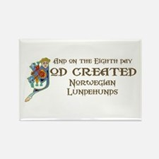 God Created Lundehunds Rectangle Magnet (100 pack)