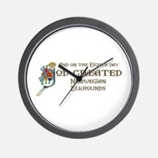 God Created Elkhounds Wall Clock
