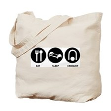 Eat Sleep Croquet Tote Bag