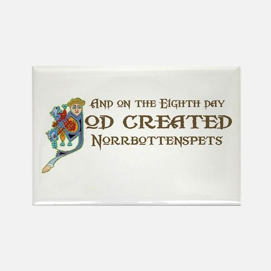 God Created Norrbottenspets Rectangle Magnet (100
