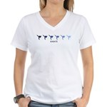 Karate (blue variation) Women's V-Neck T-Shirt