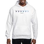 Karate (blue variation) Hooded Sweatshirt
