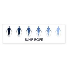 Jump Rope (blue variation) Bumper Bumper Sticker