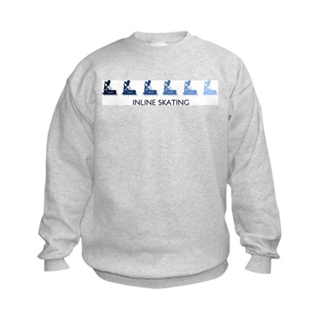 Inline Skating (blue variati Kids Sweatshirt