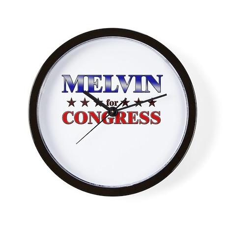 MELVIN for congress Wall Clock