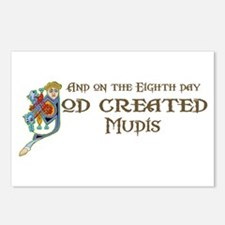 God Created Mudis Postcards (Package of 8)