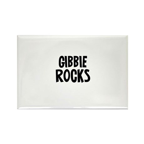 Gibbie Rocks Rectangle Magnet (10 pack)