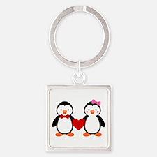 Cute Penguin Couple Keychains