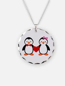 Cute Penguin Couple Necklace