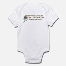 God Created Mountain Curs Infant Bodysuit