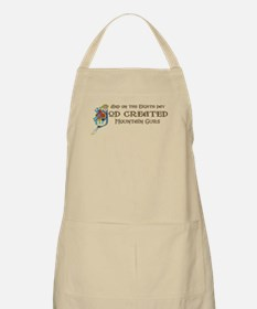 God Created Mountain Curs BBQ Apron