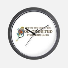 God Created Mountain Curs Wall Clock