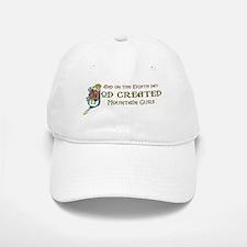 God Created Mountain Curs Baseball Baseball Cap